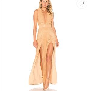 Gorgeous REVOLVE rose gold evening gown